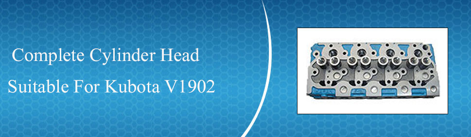 New Kubota V1902 Complete Cylinder Head 17345 03040