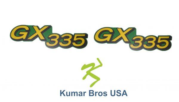 John Deere Fits GX345, M145998 Lower Hood Set of 2 Decals Replaces