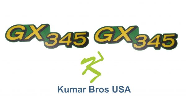 Fits GX355 for John Deere, Lower Hood Set of 2 Decals Replaces M145999