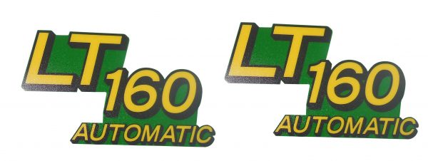 John Deere Lower Hood Set of 2 Decals Replaces AM131665, Fits LT160