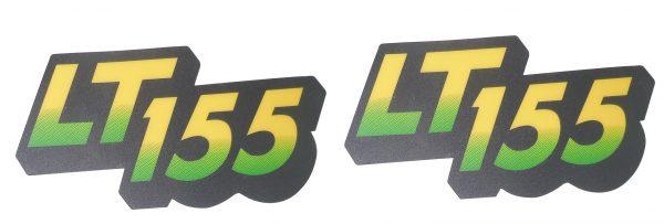 John Deere Lower Hood Set of 2 Decals Replaces AM122876 & Fits LT155