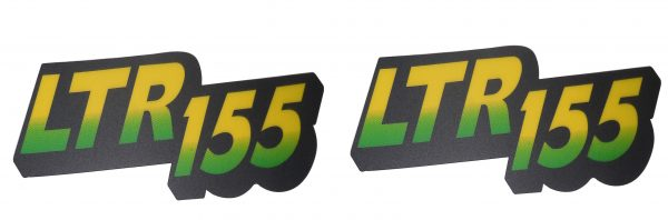 John Deere Fits LTR155 & Lower Hood Set of 2 Decals Replaces AM128106