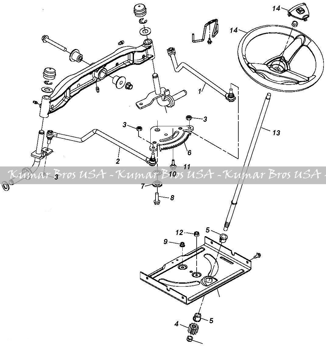 new kumar bros usa steering kit  shaft  u0026 wheel fits john