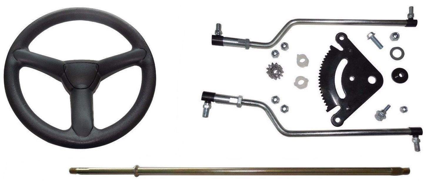 New Kumar Bros USA Steering Kit/Shaft & Wheel Fits John Deere Tractor D100  D110 D120 D125 D130 D140